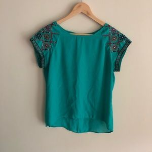 🌺🍃🍂Turquoise Blouse